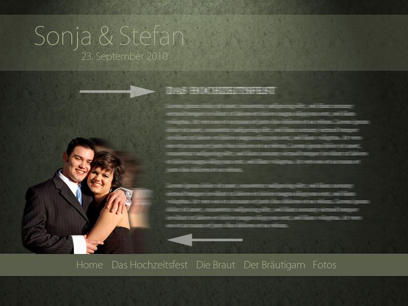 jquery im einsatz - Hochzeitshomepage Beispiele