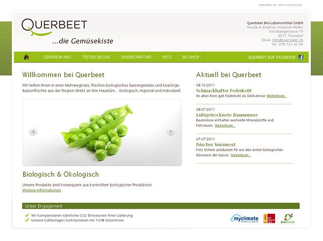 Querbeet TYPO3 Webseite
