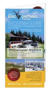 Flyer Berggasthaus Z'GRAGGEN Vorderseite