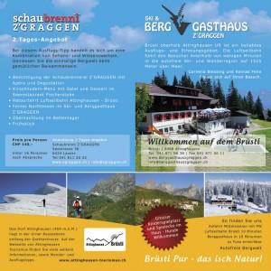 Flyer Berggasthaus Z'GRAGGEN
