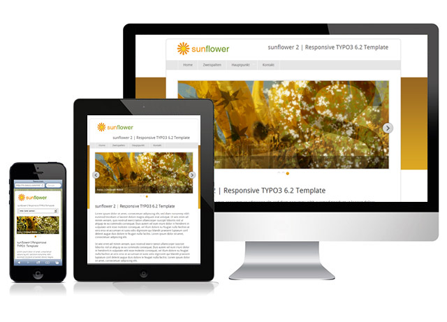 Responsive TYPO3 Template sunflower 2