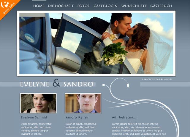 hochzeitshomepage - Hochzeitshomepage Beispiele