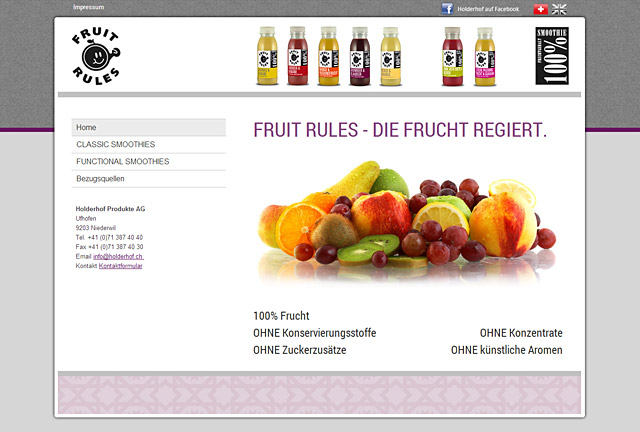 Fruit Rules Webseite