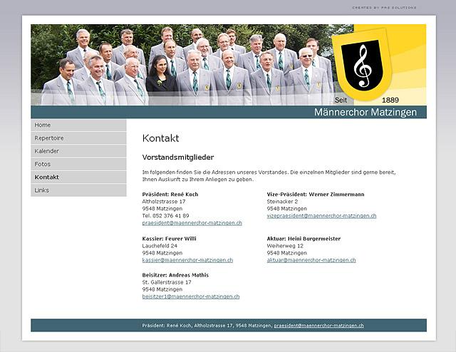 Männerchor Matzingen Folgeseite