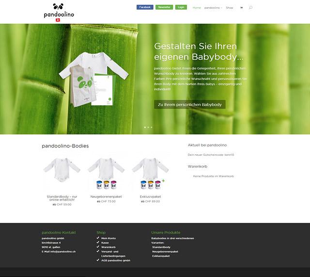 pandoolino - Startseite Web