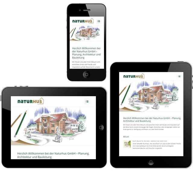 Naturhus GmbH - Responsive Webseite