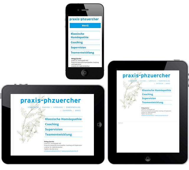 Responsive Webdesign, Philipp Zürcher