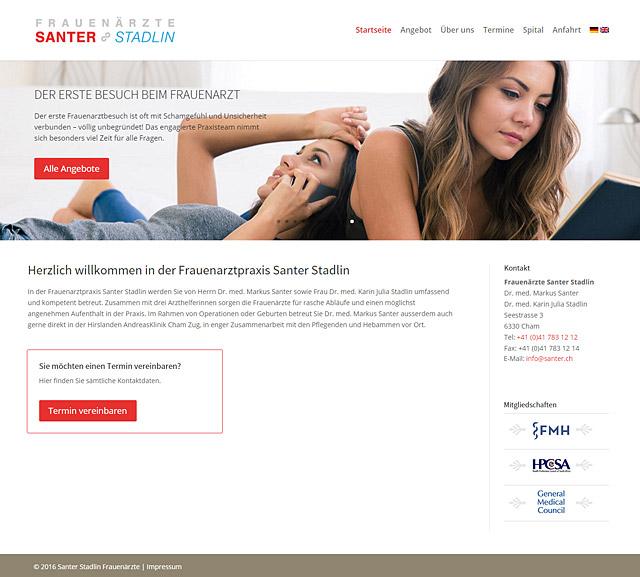 Santer Stadlin, Startseite