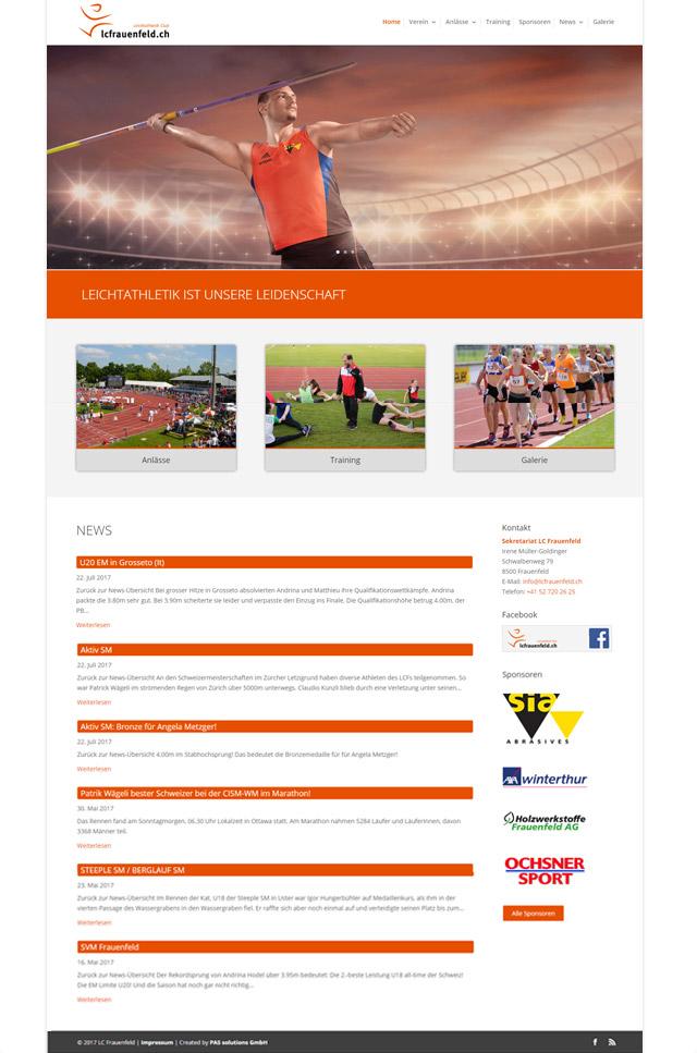 Webseite LC Frauenfeld