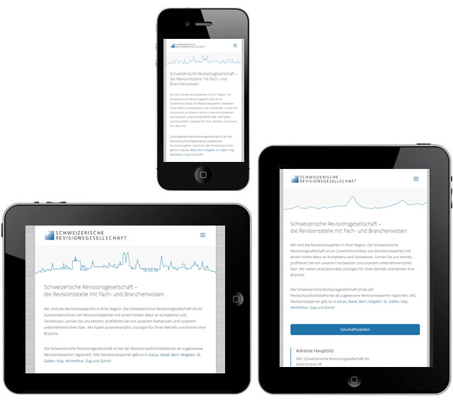 Responsive Webseite SRG